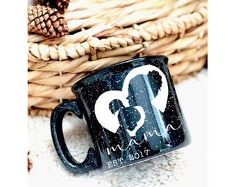 mama mug, mom, coffee, camp fire, gift for her, mothers day, mom gift
