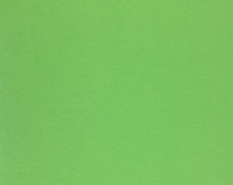 Green Flannel Fabric, Fabric by the Yard, Quilting Fabric, Apparel Fabric, Solid Flannel