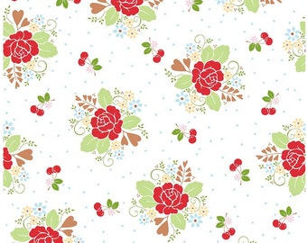 Floral Fabric by the Yard 100% Cotton Fabric Floral Quilt Cotton Fabric Quilting Fabric Shop Apparel Fabric Yardage Riley Blake Fabric