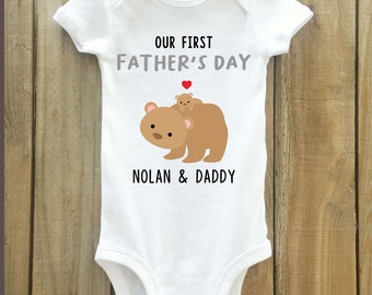 Father's Day Gift from Baby, Our First Father's Day, Happy Father's Day, father's day gift, First Father's day, first father's day shirt