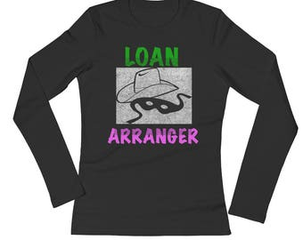 Banking Loan Arranger Distressed All Cotton Tee Shirt Ladies' Long Sleeve T-Shirt