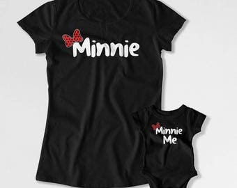 Mommy and Daughter Outfits Mommy And Me Clothing Mother Daughter T Shirt Mom And Baby Matching Shirts Minnie Me TEP-292-293