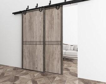 Reduced cabinet sliding door hardware kit for shanty2chic - Exterior sliding door hardware kits ...