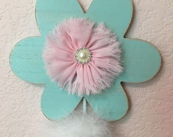 aqua flower wall hook coat hooks coat rack decorative wall hooks coat