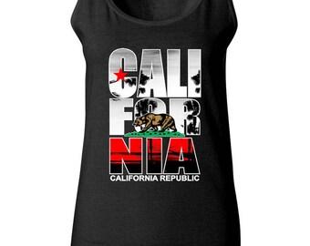 California Republic Bear Cali Bear Women Tank Top Sleeveless Tops Best Seller Designed Women Tanks