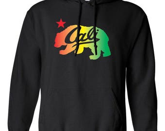 California Republic Cali Bear Rainbow Bear Clothing Adult Unisex Hoodie Hooded Sweatshirt Best Seller Designed Hoodies for Women and Men