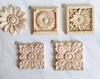 Wood carvings etsy for Applique furniture decoration
