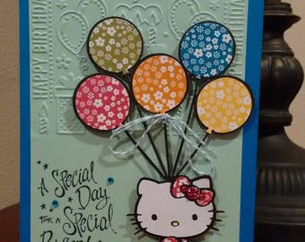 Hello Kitty Greeting Card 3D Birthday Embossed