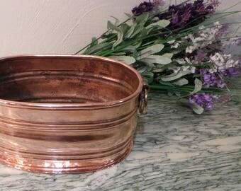 Copper Planter Copper Decor Plant Pot with Copper Handles Hammered Copper Planter Copper Home Decor Cache-Pot French Copper Design
