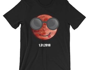 Moon Emoji Shirt Lunar Eclipse T-Shirt UNISEX Astronomy Gift