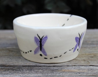 Butterfly Ceramic Bowl