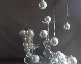 Set of 28 Vintage Opalescent Ornaments