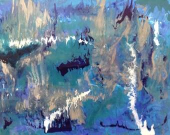 Original Handmade Acrylic Resin Painting