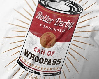 Roller Derby Can of Whoopass Women's short sleeve t-shirt