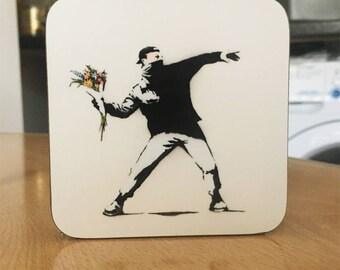 Banksy Coaster #21 - Banksy Gift - Banksy Coaster - Custom Coaster -Gift for Her - Gift For Him - Fridge Magnets - Banksy Magnet - Souvenir