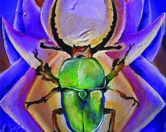 "Signed 11x17"" Print - ""Scarab Beetle"""