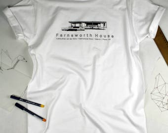 oversize tshirt with awesome print/farnsworth house