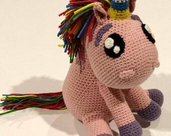 Rainbow Unicorn Crochet Pattern