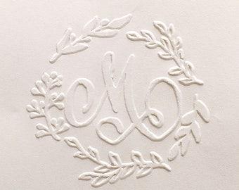 Custom Embosser stamp,wedding embosser,sign embosser,Custom Monogram Embosser, name embosser,Personalized Embosser, wedding invite,