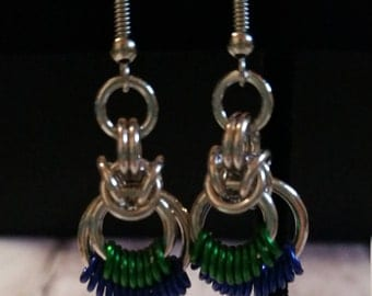 Byzantine Circle Earrings -chainmaille
