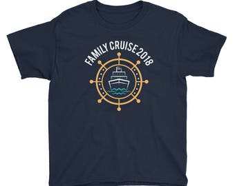 Family Cruise 2018 Kids Short Sleeve T-Shirt- Family Vacation T-Shirt - Family Matching Shirt - Cruise Shirt - Family Shirts - Cruise Shirts