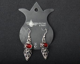 Unique Handmade Silver Plate Drop Earring