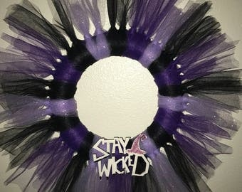 Stay Wicked Halloween Tulle Wreath