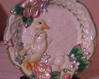Fitz and Floyd Classics Duckling Canape Plate Wall Hanging