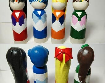 "SAILOR SCOUTS - Custom 3.5"" Peg Dolls"