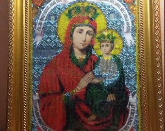"""Miracle icon of the Mother of God """"A surety of sinners"""". Hand Made"""