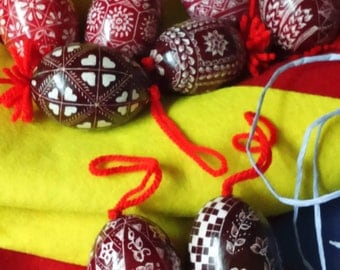 Easter Egg , ornamented eggs,Hand-scratched (Traditional Slovenian Drsanka),handwork