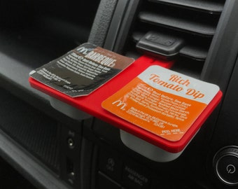 SauceBoss Double Dip Holder for Car | DipClip | Car Dip Holder | Dip Clip UK | Sauce Boss | Twin Sauce Holder - UK SELLER