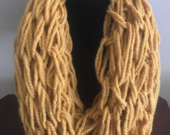 MUSTARD (or select color) Chunky INFINITY SCARF