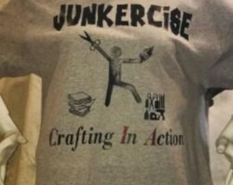 T-shirt, junkercise, exercise, journal, crafting, shirt