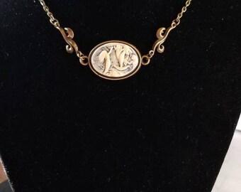 "19 1/2"" Mermaid Cameo necklace"