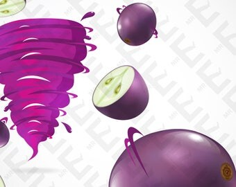 Vector Art - Grape with juicy twister