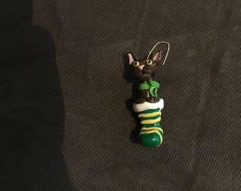 Tortoiseshell kitten ornament