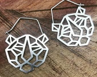 Geo Tiger earrings
