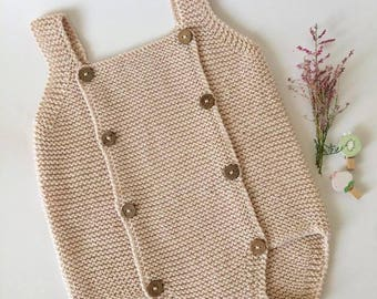 Baby Romper, Knitted Baby Romper