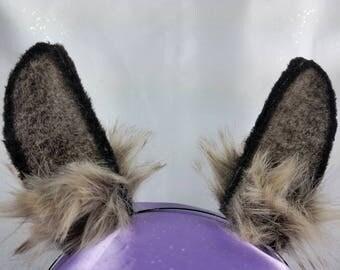 Luxury Brown and Grey Rabbit/Bunny Ears
