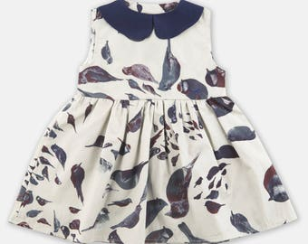Dress with bird pattern