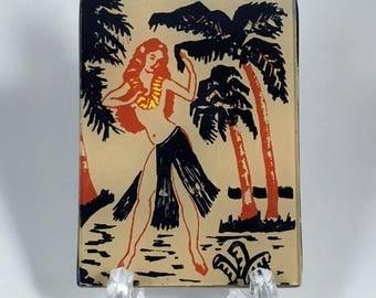 Hula Girl Pocket Mirror