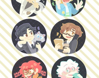 "Mystic Messenger: 1.5"" Buttons"