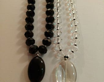 Black and White Crystal Necklaces