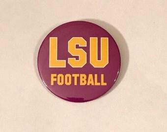 "3"" LSU Tigers pinback button"