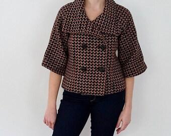 Houndstooth Jackie O Style Jacket