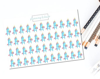 Birthday Pippy - Functional | Planner Stickers