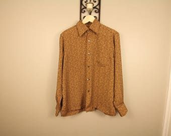 Floral pattern button up dress shirt Xposed
