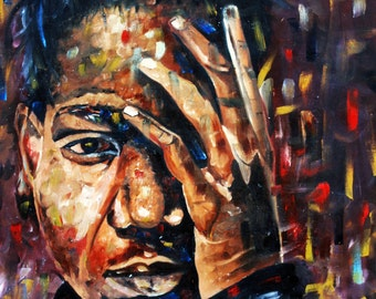 Jean Michel Basquiat oil painting on canvas