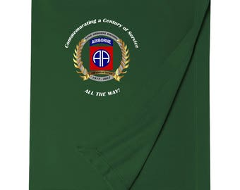 82nd Airborne Division Embroidered Blanket-3303